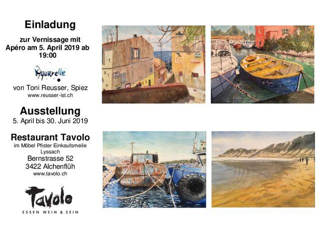 Kunstausstellung Im Restaurant Vernissagen Mit Apéro Tavolo